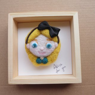 Sleeping original handmade [to Alice Alice.for you] brooch / ornaments