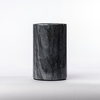 Marble dark grey ice bucket / vase / storage bucket