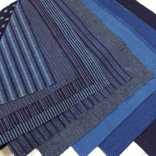 Indigo fabrics 10 piees for patchwork