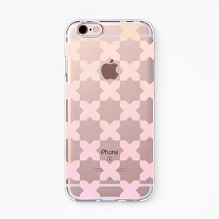 iPhone Case - Star and Cross - for iPhone - Clear Flexible Rubber case J35