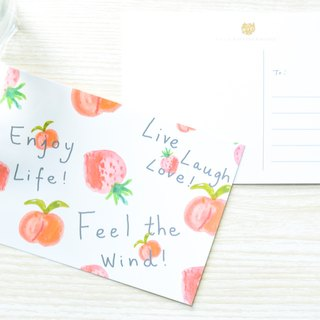 Garden Collection-Peach Strawberry postcard / buy 3 get 1
