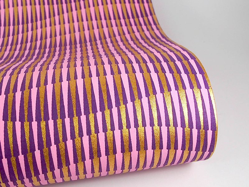 Shizen Romane Purple Ripple Handmade Wrapping Paper