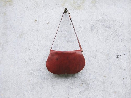 ~ After the garden ~ homemade accessories fall soft leather oblique back saddle bag BC-294
