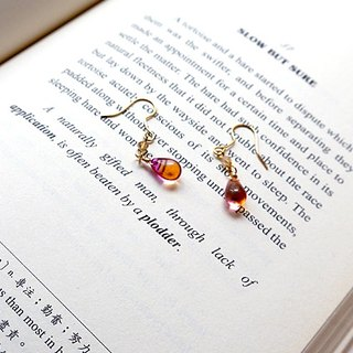 SL282 Light you up four-color stained glass earrings (wear / clip)