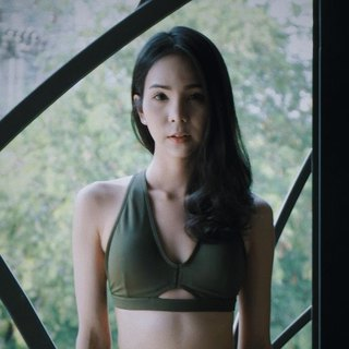 "swimwear - collection ""creme brulee"" / olive green / size m"