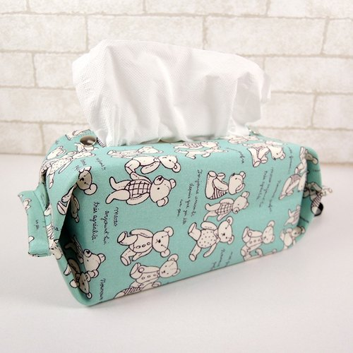 Admission package can be hanging toilet paper / tissue paper sleeve - Teddy Bear (green)