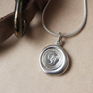 Initial Monogram Y / Make a Mark Personalised 925 Silver Wax Seal Necklace