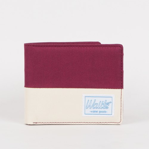 Neath Maroon-Cream | Waterproof Canvas Wallet