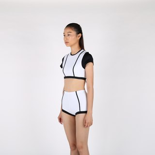 Parallel Line set - White / swimwear / L