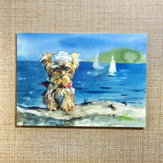 Watercolor painting [dog's sailor]