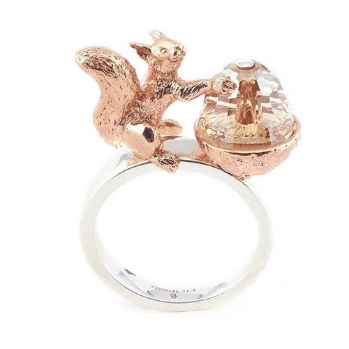 Acorn and Squirrel Ring