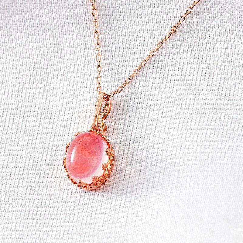 招人緣珠寶級天然粉水晶項鍊(含開光)招桃花、增加信心、招人緣、美麗之石
