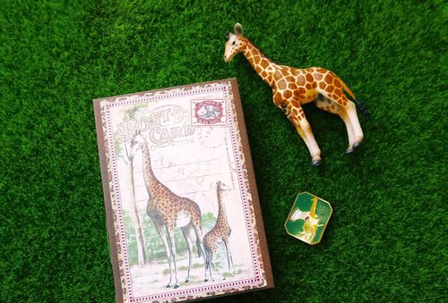 Miss giraffe crocodile ﹝ ﹞ French handmade wire-bound book