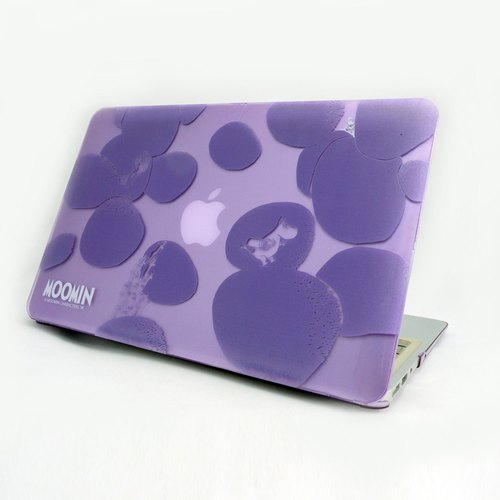 "Moomin Lemur Milk Genuine - Macbook Crystal Shell: [Rock Moomin] (Light Purple) ""Macbook Pro / Air 13"""