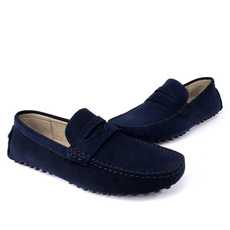 Sixlips Yi style classic suede peas shoes blue