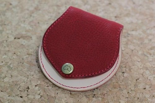 Leather coin case Marosshi (Red)