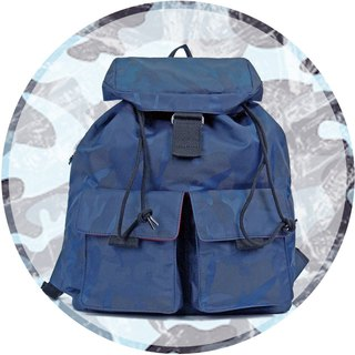 Free shipping I AM-HAMILTON S (small) beam back backpack - camouflage blue