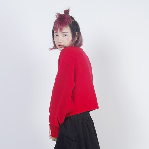 Red cardigan short version - imakokoni Christmas Christmas