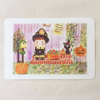 Postcard waiting for Halloween night no.013