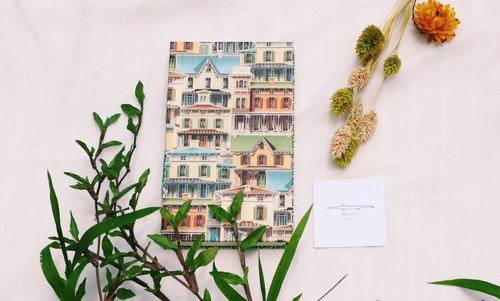 Miss crocodile colored houses ﹝ ﹞ French handmade wire-bound book