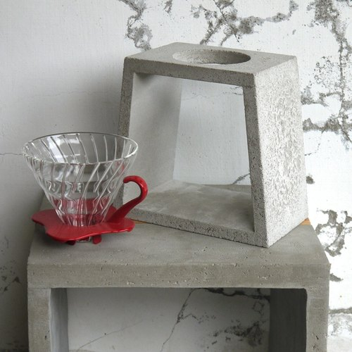 Trapezoidal cement hand punch coffee rack (2-4 copies)