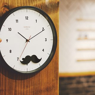 Mustache- Mr. Beard Silent Swing Clock Wall Clock