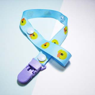 Cheerful. Baby stroller toy lanyard anti-dropped rope, anti-chain Sufei good partner (yellow duckling _ blue)