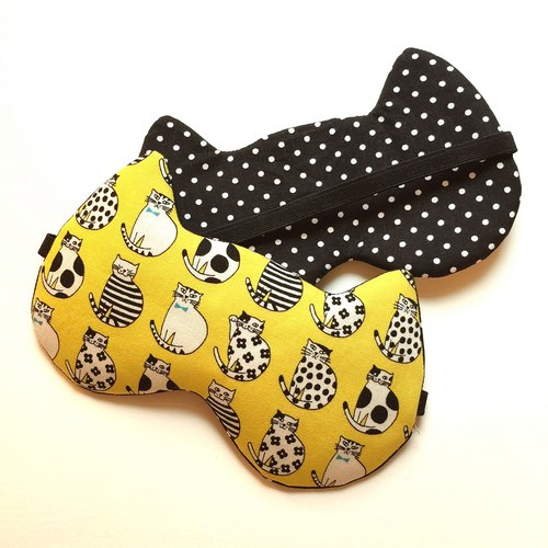 Night Cat Sleep Mask - Yellow