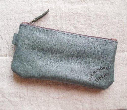 Pouch pen case (thick) Blue