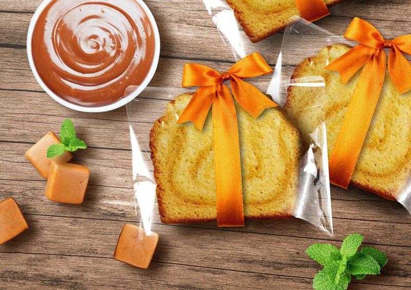 【桃德先生手工布朗尼專賣】緞帶-海鹽焦糖榛果油磅蛋糕