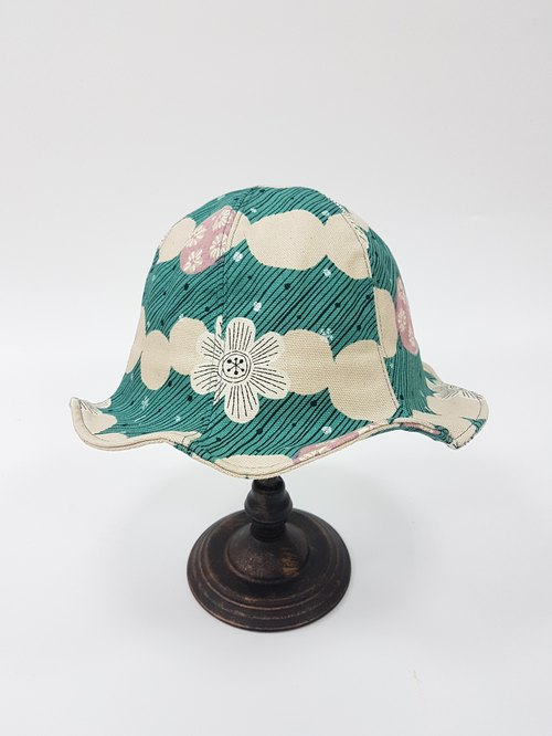 Tulip Flower Hat - Japanese Sunflower (Green)