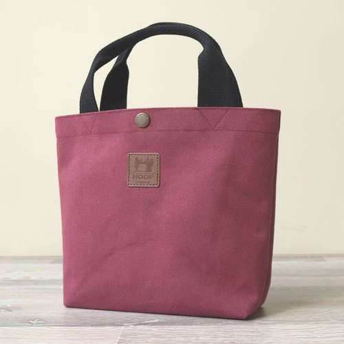 """No Indian style bag"" canvas Japanese production - burgundy charm"