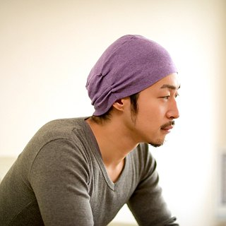 MADE in JAPAN 100% Organic Cotton Night Cap Beanie Style Hat Sleeping and Indoor