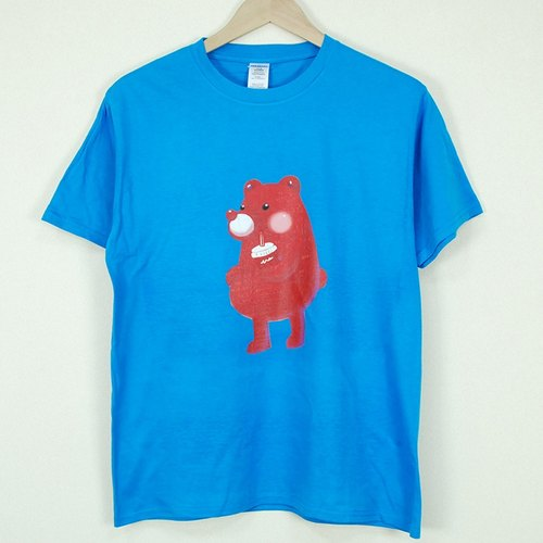 "New designer-T-shirt: 【Bear】 short-sleeved T-shirt ""children"" (sapphire) - Chen Xiaoan"