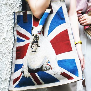 British flag Bulldog shoulder bag / mother bag / bags / gym bags / leather bag