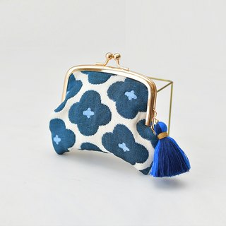 Coin purse/Blue flower