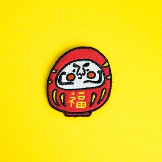 Embroidered Pin / Daruma