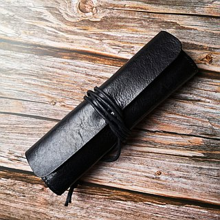 Cowhide roller shutter pen pencil case stationery bag pen pencil cowhide bag tool bag