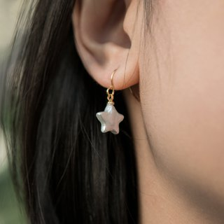 STAR SHELL EARRINGS