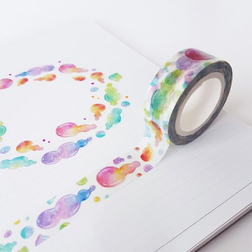 [January pre-order] color horn tape paper tape