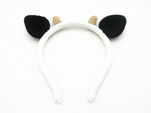 Crochet Cow Ears Headband