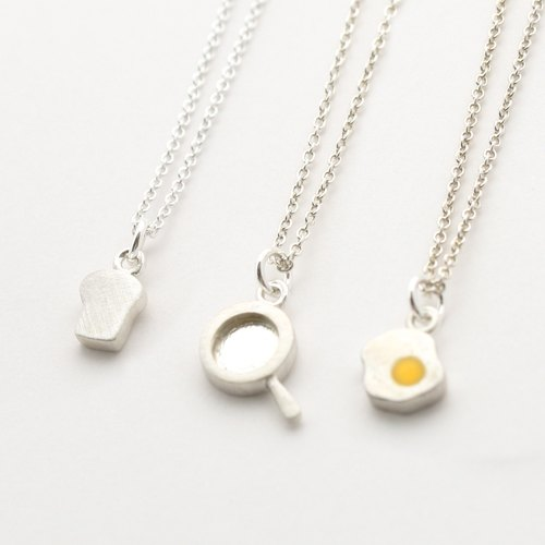 Eat Breakfast Every Day  Necklace