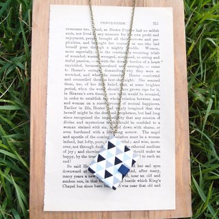 Mini Book Necklace| Triangle