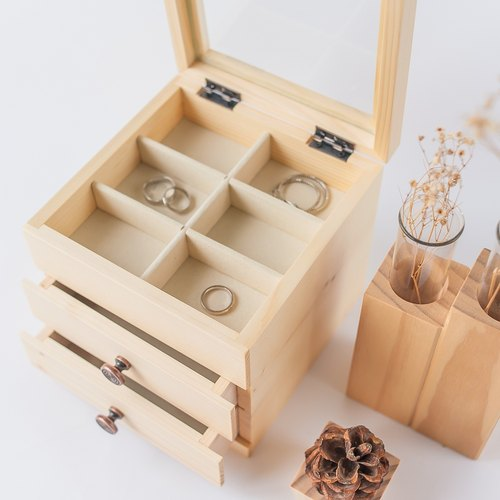 [Double pumping jewelry box] 1 + 1 combination of concessions