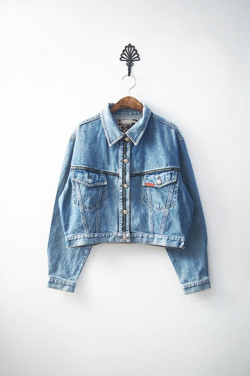 Banana Flyin '| vintage | plain neutral vintage denim jacket