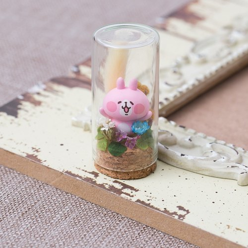 """Three Flower Cat Hand Ornament"" Kana Hera Pink Rabbit Small Garden Micro Landscape"