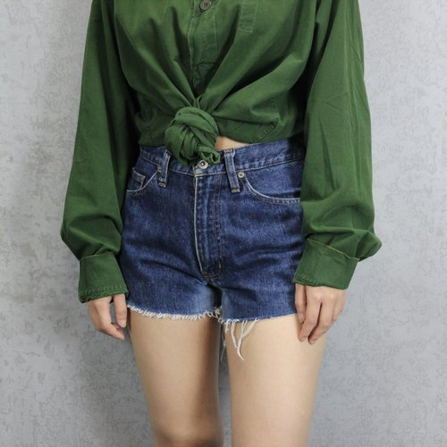 Tsubasa.Y Blue 018 Blue Way denim shorts, short jeans