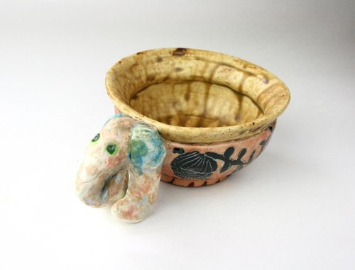Bowl of the elephant , 象の鉢, Japanese traditional glaze,陶器,子供食器