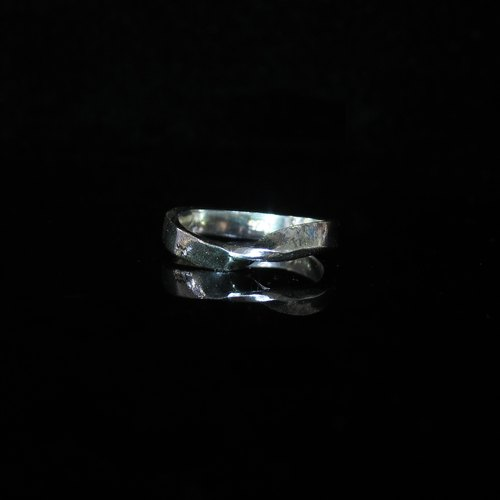 [Cosmology series - Mobius ring silver ring _ general width] hand. Commemorative ring. Valentine's Ring