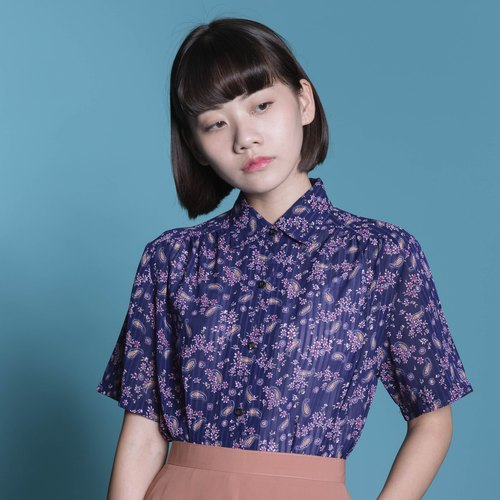Spring Night Sakura | Ancient Short Sleeve Shirt